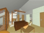 Rekonstrukce podkroví v rodinném domě - Opava